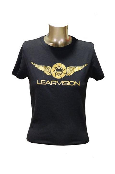 Gold LV Logo T-Shirt