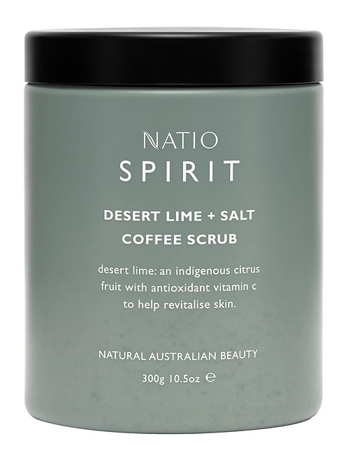Natio Spirit Desert Lime and Salt Coffee Scrub