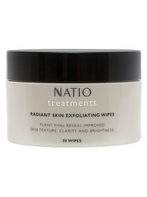 Natio Treatments Radiant Skin Exfoliating Wipes
