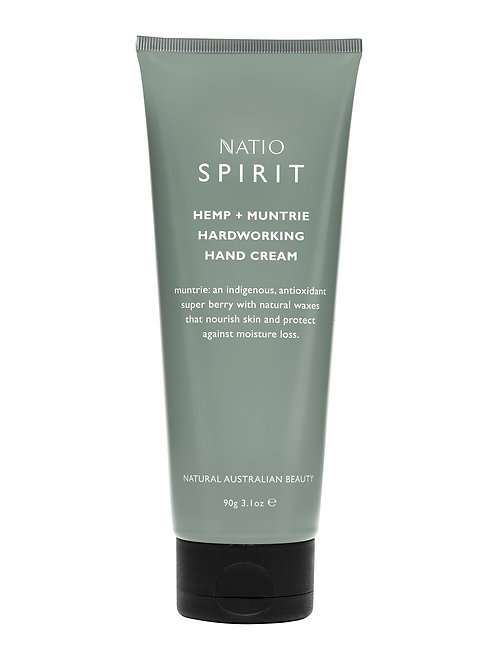 Natio Spirit Hemp and Muntrie Hardworking Hand Cream