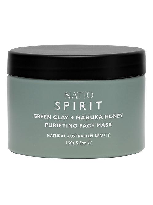 Natio Spirit Green Clay and Manuka Honey Purifying Face Mask