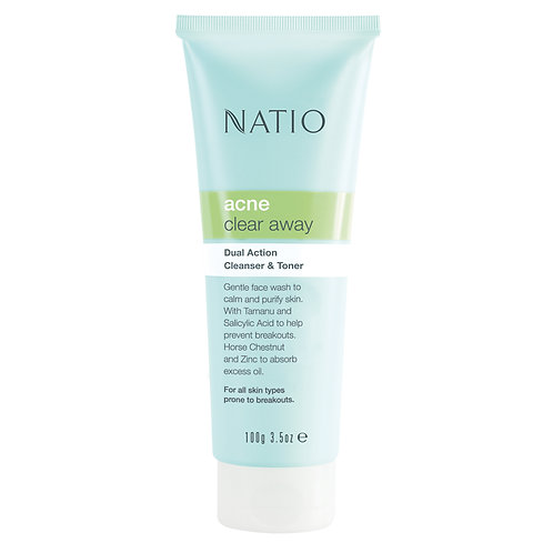 Natio Acne Dual Action Cleanser and Toner