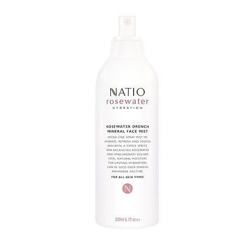 Natio Rosewater Hydration Mineral Face Mist