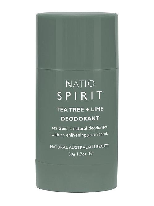 Natio Spirit Tea Tree and Lime Deodorant