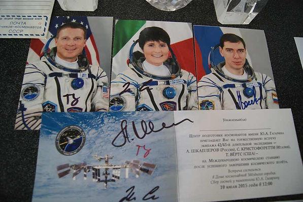 Фото космонавтов Шкаплерова, Кристофорсти, Вёртс участников 42-43 длительной экспедиции на Международную космическую станцию