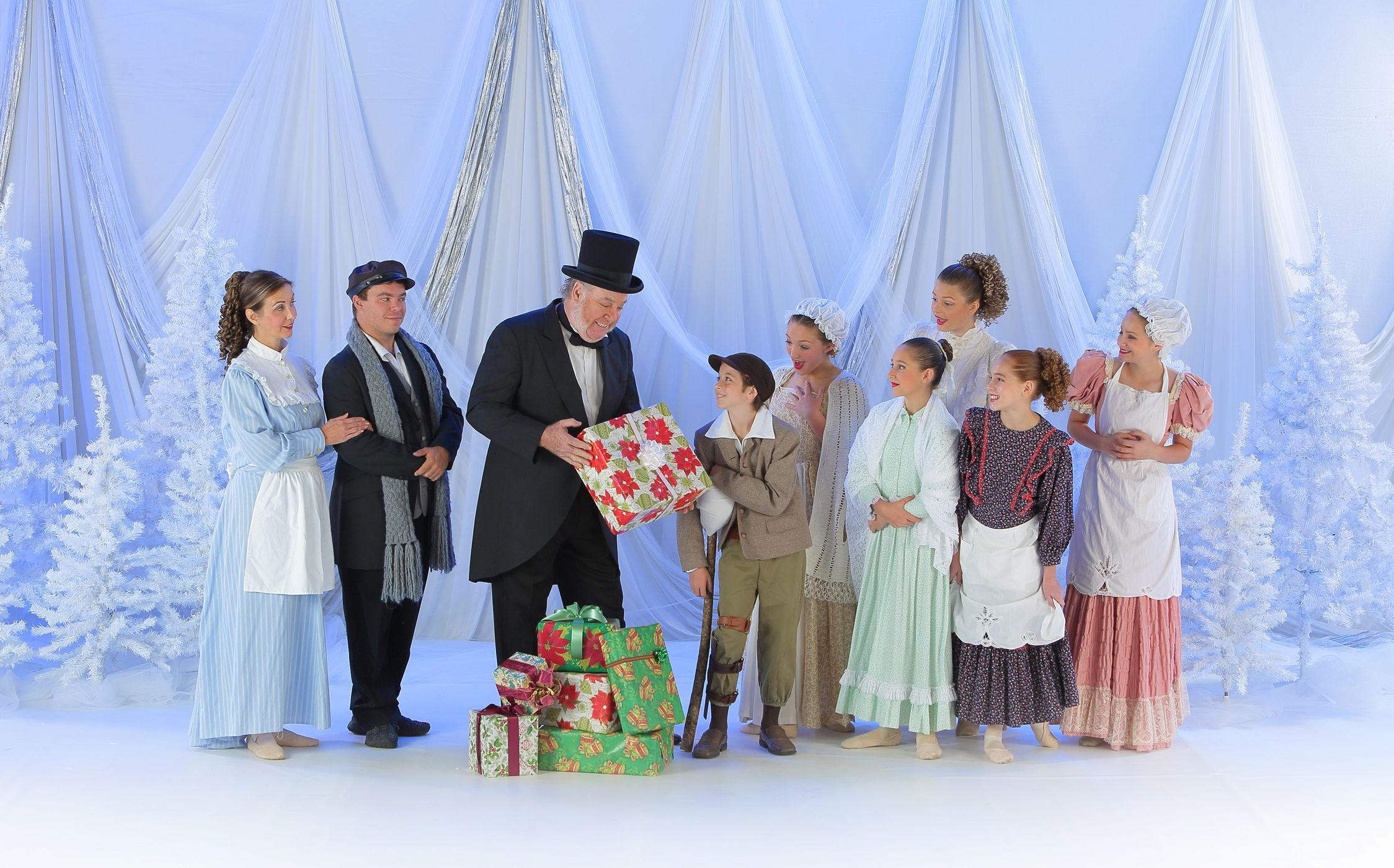 Scrooge and the Cratchit Family