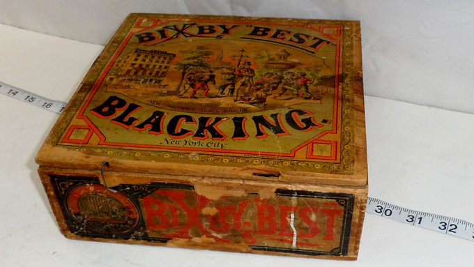 1890s Blacking Bixby Best Shoeshine Box