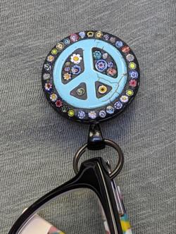 """""""Peace"""" Sign Custom Order of Eyeglass Holder"""
