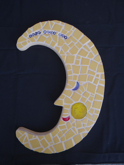Mosaic moon for Half Moon Bay