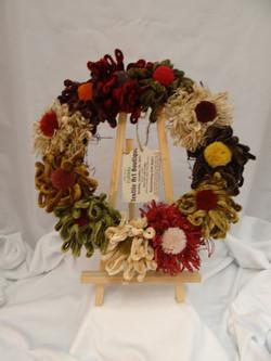 Fringe flower Wreath