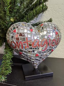 Mosaic mini heart for SFGHFoundation 2021 - back