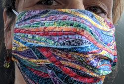 Mannheimer Mosaic Wall on Face Mask