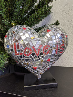 Mosaic mini heart for SFGHFoundation 2021 - front