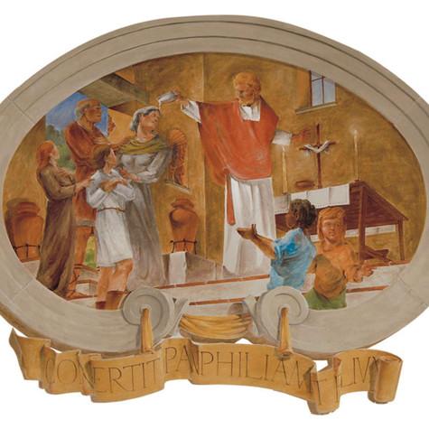 Cresci Baptizes Panfila and her Son