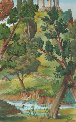 Diana's Wood, backcloth