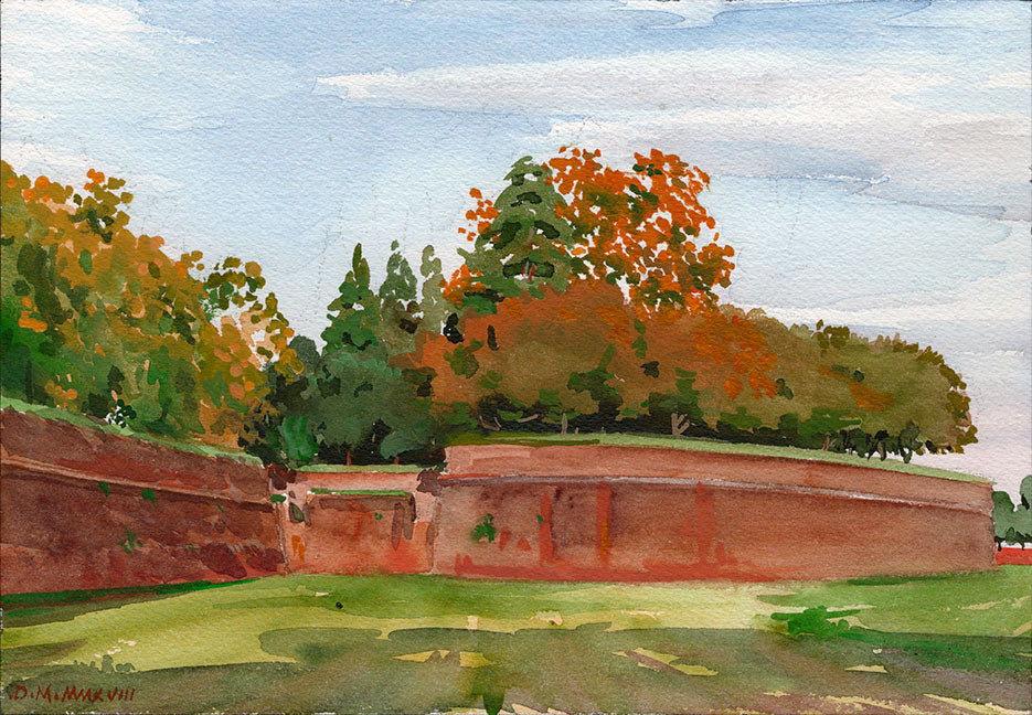 Walls of Lucca, Autumn*