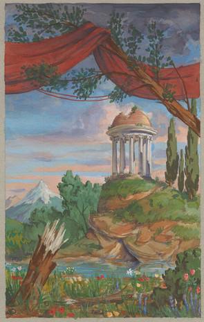 Orphée Pastoral backcloth