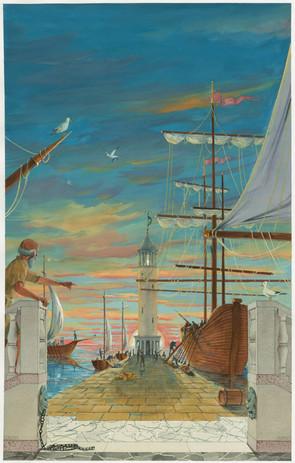 Carthage Port backcloth