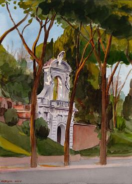 Vignola's Gate to the Orti Farnesiani*