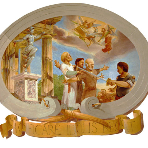 Creci and Companions Refuse to Sacrifice to the Idols