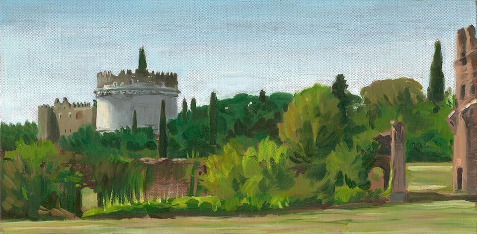 Cecilia Metella from the Villa of Maxentius