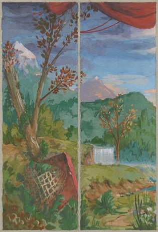 Orphée Pastoral periaktoi left