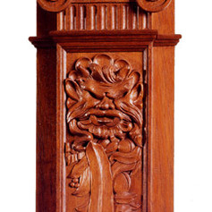Library Bookcase Pilaster