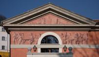 Palmer Theater Pediment