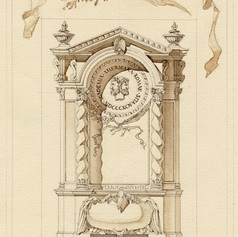 Design for American Academy in Rome Bookcase
