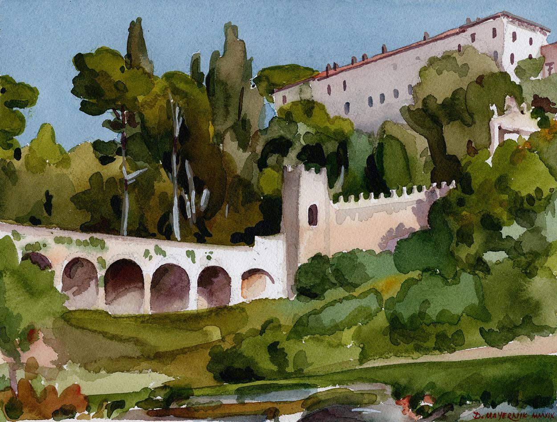Villa d'Este from the Sanctuary of Hercules Victor