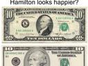 Hamilton Looks Happier
