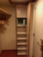 Additonal shelves in Crown Princess cruise ship state room closet