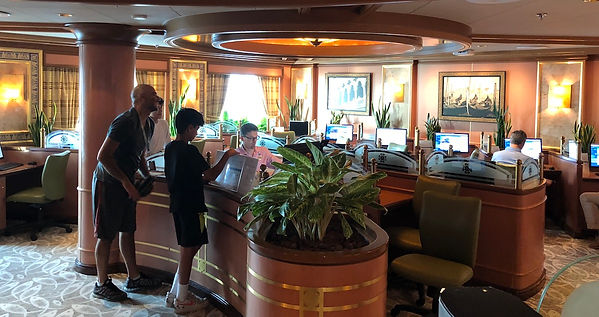 Internet Cafe on the Crown Princess