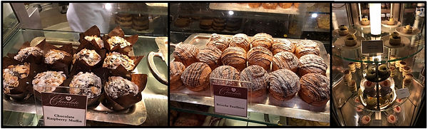 Pastries and desserts in the Crown Princess cruise ship's International Cafe