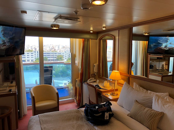 Balcony cabin or stateroom on the Crown Pricess -- R230, Riviera Deck