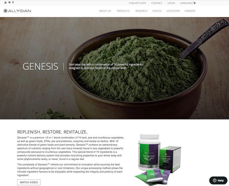 Allysian Genesis Website