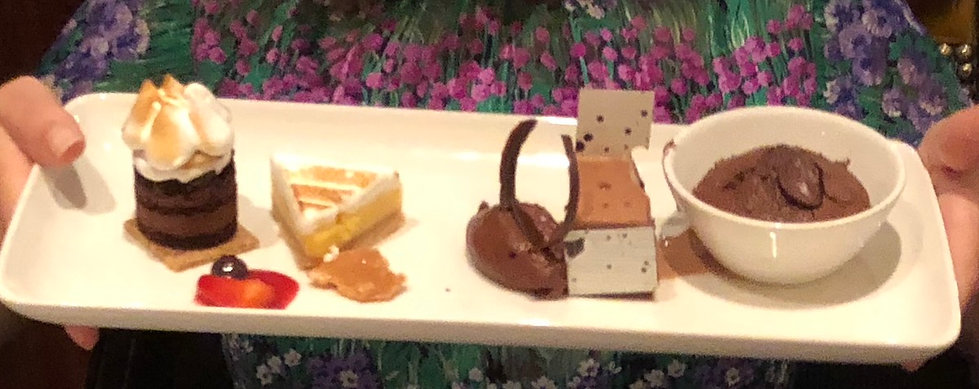"""""""Crown Dependence"""" dessert sampler at the Crown Grill restaurant aboard the cruise ship Crown Princess"""