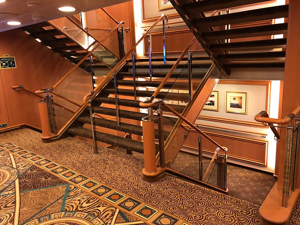 Double-stair cases in Crown Princess