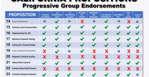 Progressive Voting Guide for the California Propositions in November 2020
