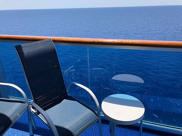 Crown Princess cruise ship balcony