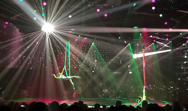 Aerialists at Cirque de Soleil Exentrick