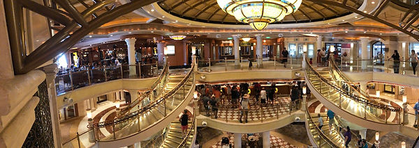The Piazza on th Crown Princess cruise ship