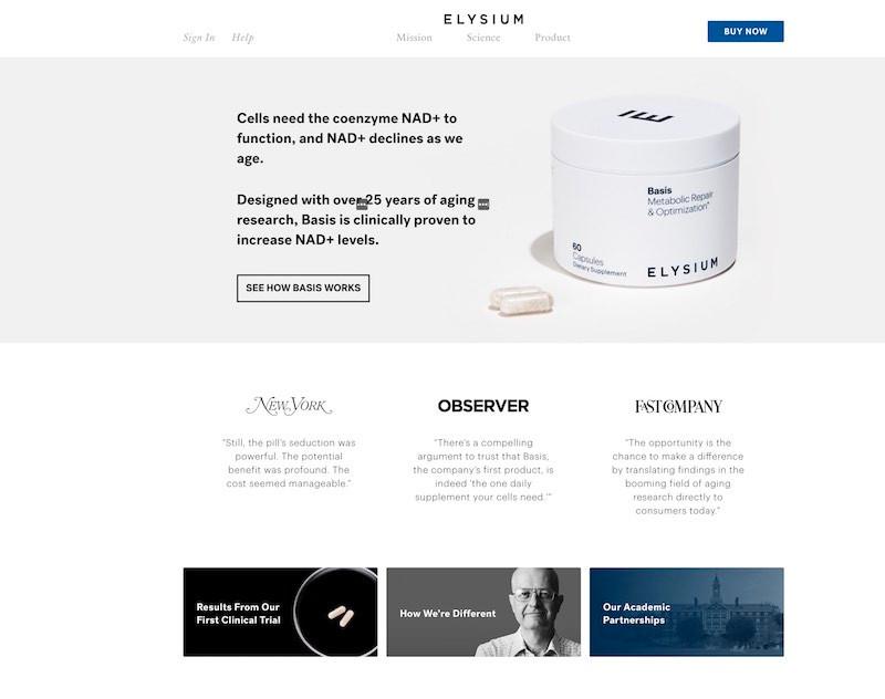 Elysium Basis Website