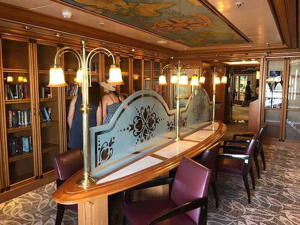 Library on the Crown Princess