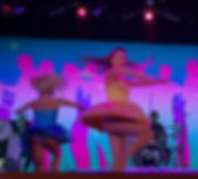 Crown Princess dancer spins up her dress
