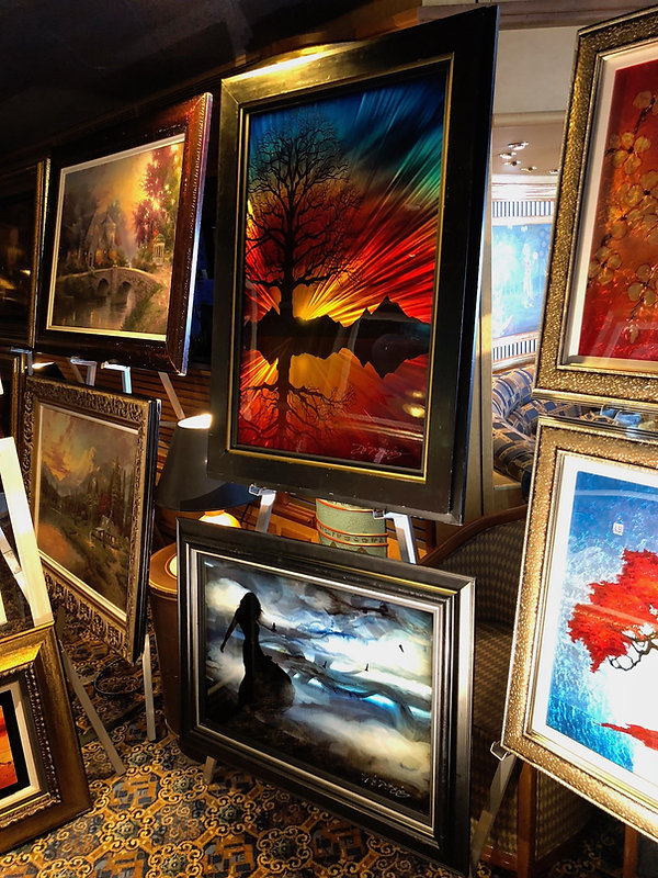 "Prints being sold as ""fine art"" aboard a cruise ship"