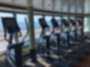 Crown Priness cruise ship fitness equipment has a great view