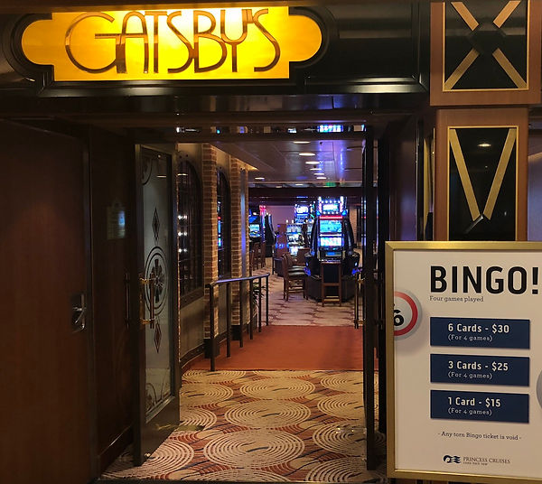 """Gatsby's"" Casino entrance, Crown Princess"