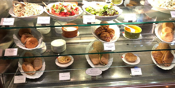 Sandwiches and salads availble at the Internatonal Cafe on Princess Cruise's Crown Princes