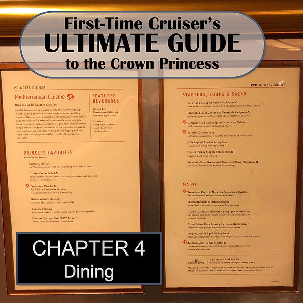 First Time Cruiser's Ultimate Guide to the Crown Princess -- Chapter 4 Header